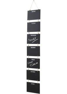 Доски для записей на всю неделю (черный) Bonprix