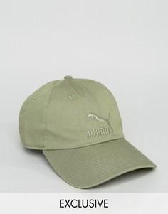 Зеленая кепка Puma Essentials эксклюзивно для ASOS 02135708 - Зеленый