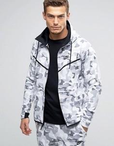 Белое камуфляжное худи из флиса Nike Tech 835866-100 - Белый