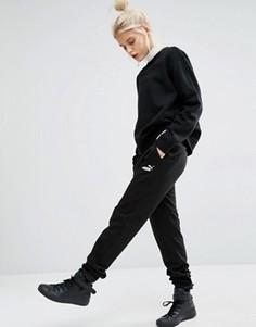 Спортивные штаны с классическим логотипом Puma - Черный