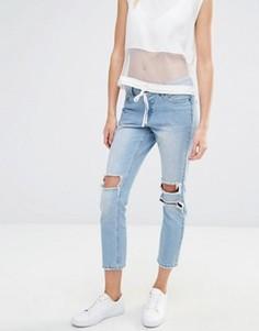 Рваные джинсы скинни Vero Moda - Синий