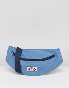 Джинсовая сумка-кошелек на пояс с логотипом Wrangler - Синий