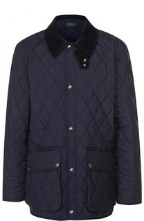 Удлиненная стеганая куртка на кнопках Polo Ralph Lauren