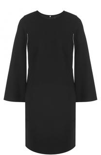 Мини-платье прямого кроя с разрезами на рукавах DKNY