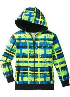 Трикотажная куртка (желтый неон с принтом/зеленый неон) Bonprix