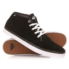 Кеды кроссовки высокие Quiksilver Shorebrksuedmid Shoe Black/Black/White