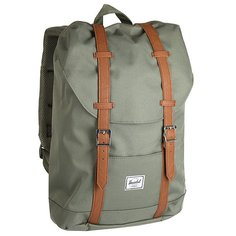 Рюкзак туристический Herschel Retreat Mid-volume Deep Lichen Green/Tan Synthetic Leather