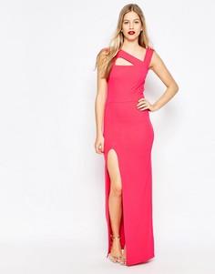 Платье макси с вырезами и боковым разрезом Honor Gold - Розовый