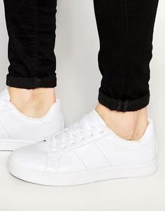 Белые кроссовки на шнуровке ASOS - Белый