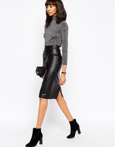 065d12a140f Женские юбки-карандаш из натуральной кожи – купить в интернет ...