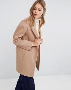 Пальто-кокон в мальчишеском стиле ASOS - Светло-серый