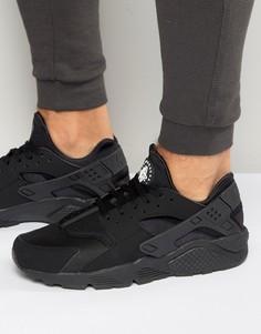 Мужские черные кроссовки Nike Air Huarache 318429-003 - Черный