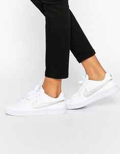 Женские бело-серебристые кроссовки Nike Court Royale - Белый