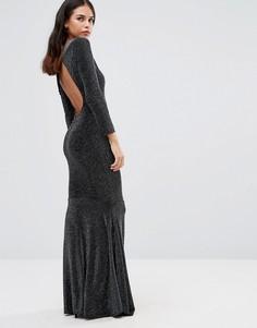 Платье макси с открытой спиной Honor Gold Sophia - Черный
