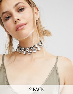 Ожерелье-чокер с камнями ALDO Pastore - Прозрачный