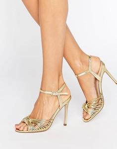 Босоножки на каблуке ASOS HARLOW - Золотой