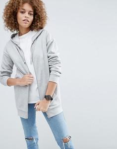 Oversize-худи на молнии ASOS Ultimate - Серый