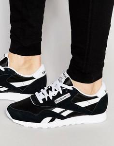 Черные нейлоновые кроссовки Reebok CL 6604 - Черный
