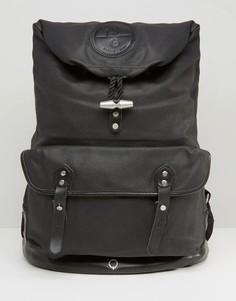 Рюкзак из лакированной хлопковой парусины Stighlorgan Reilly - Черный