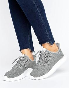 Серые трикотажные кроссовки adidas Originals Tubular Shadow - Серый