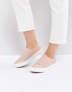 Кроссовки-слипоны с перекрестными резинками New Look - Черный
