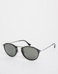 Солнцезащитные очки в круглой оправе Persol - Черный