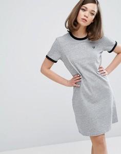 Платье-футболка Fred Perry Authentic Ringer - Серый