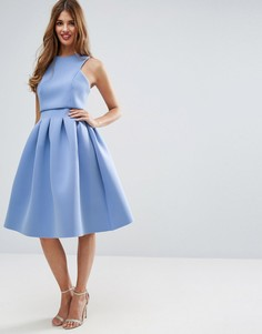 Платье миди с укороченным топом ASOS Debutante - Синий