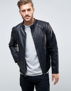 Байкерская куртка из кожзаменителя Produkt - Черный