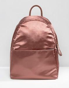 Атласный рюкзак медного цвета Glamorous - Розовый