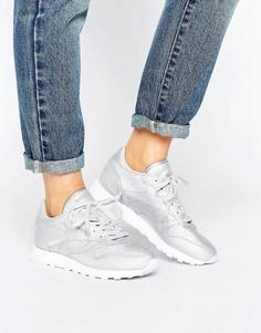 Кожаные классические кроссовки с блестящей отделкой Reebok - Мульти