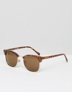 Черепаховые солнцезащитные очки в стиле ретро Jack & Jones - Черный