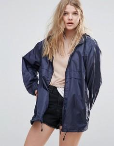 Однотонный дождевик с капюшоном Totes - Темно-синий