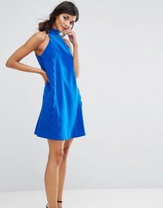 Платье-туника с халтером и фигурной отделкой Ted Baker Torrii - Синий