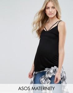Топ на бретелях ASOS Maternity Ultimate - Черный