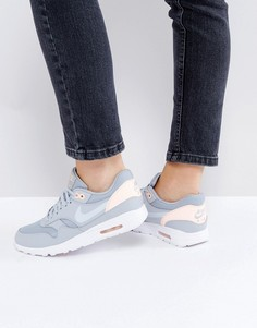Серо-розовые кроссовки Nike Air Max 1 Ultra - Серый