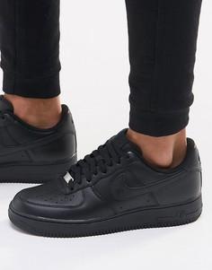 Черные кроссовки Nike Air Force 1 07 315122-001 - Черный