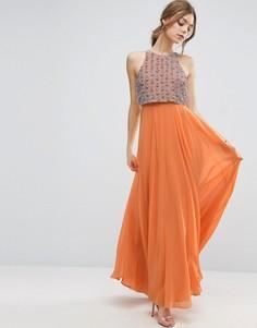 Платье макси с укороченным топом ASOS - Оранжевый