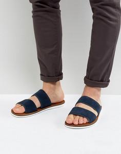 Замшевые сандалии-слипоны с двумя ремешками ALDO Delpizzo - Темно-синий