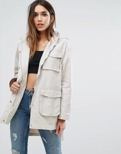 Куртка в стиле милитари с карманами Missguided - Бежевый