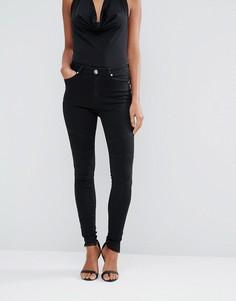 Черные байкерские джинсы скинни Lipsy - Черный