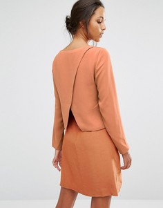 Платье с запахом сзади Selected Pica - Рыжий
