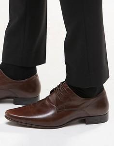 Кожаные туфли дерби ASOS - Коричневый