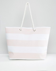 Пляжная сумка в розовую полоску South Beach - Мульти