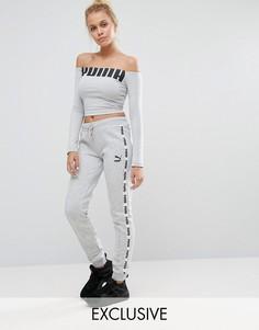 Спортивные штаны с тесьмой Puma эксклюзивно для ASOS - Серый