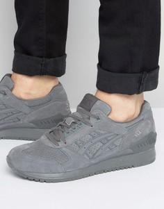 Серые замшевые кроссовки Asics Gel-Respector H721L 9797 - Серый