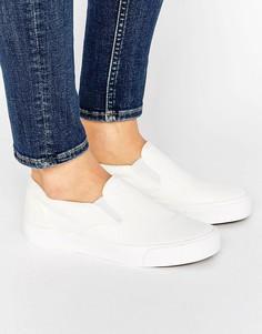 Парусиновые кроссовки-слипоны New Look Basic - Белый