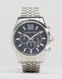 Серебристые часы с хронографом Michael Kors MK8280 Lexington - Серебряный
