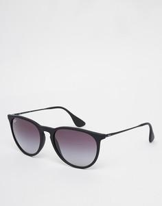 Черные солнцезащитные очки Ray-Ban Erika RB4171 622/8G - Черный