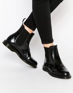 Черные ботинки челси Dr Martens Kensington Flora - Черный